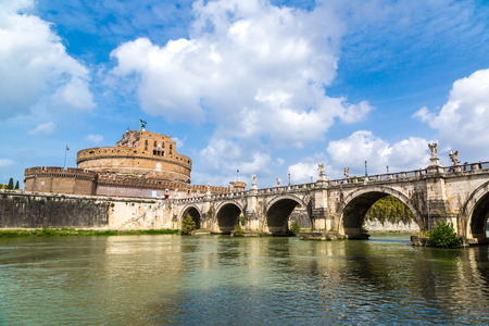 castel: Castel Sant Angelo in a summer day in Rome, Italy