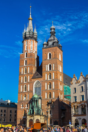 marys: KRAKOW, POLAND - JUNE 16: St. Marys Church in Krakow in a summer day, Poland on June 16, 2014