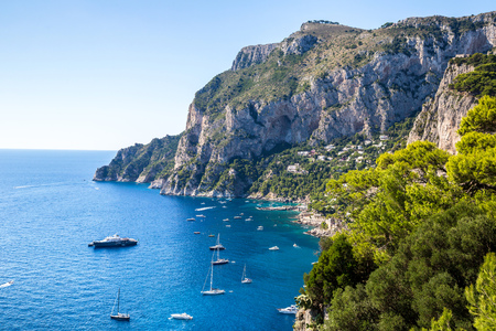 italy: Capri island in a beautiful summer day in Italy