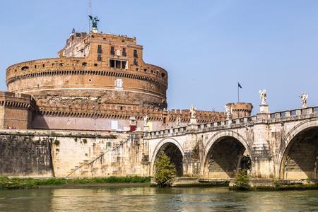 angelo: Castel Sant Angelo in a summer day in Rome, Italy