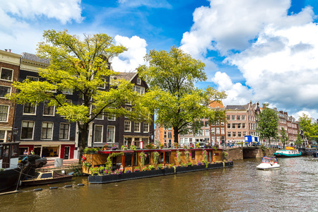 amsterdam: Canals of Amsterdam. Amsterdam is the capital and most populous city of the Netherlands Stock Photo