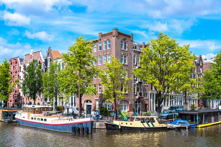 populous: Canals of Amsterdam. Amsterdam is the capital and most populous city of the Netherlands Stock Photo
