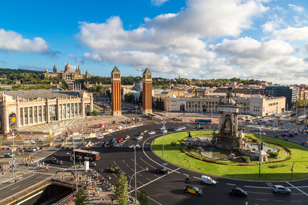 barcelona: View of the center Barcelona. Spain in a summer day Stock Photo