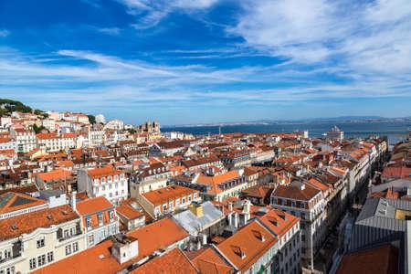 jorge: Aerial view of Lisbon, Portugal. Sao Jorge Castle Editorial