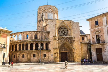 saint mary: Square of Saint Marys in Valencia in a summer day, Spain