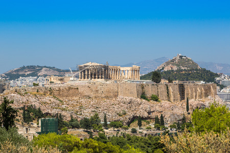 ancient greece: Acropolis in a beautiful summer day in Athens, Greece