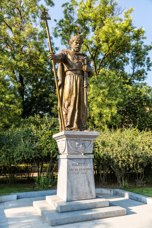 sceptre: Monument of King Samuil in Sofia, Bulgaria in a summer day