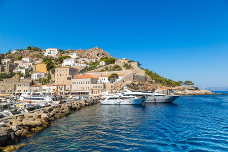 greece: Hydra island in a summer day in Greece
