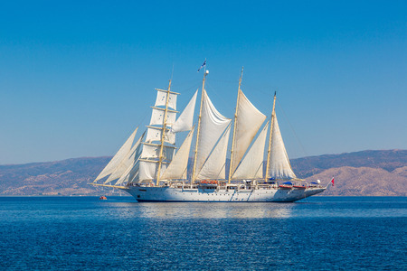 Sailing ship in a beautiful summer day Foto de archivo