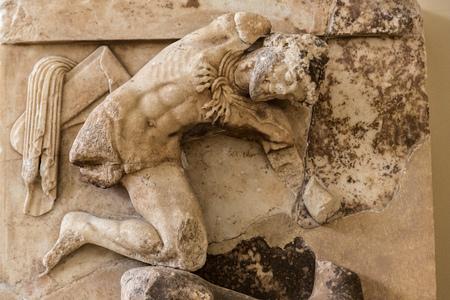 delfi: Ancient greek ornament in Delphi museum in Greece