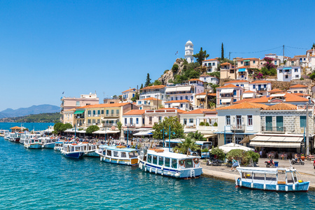 greece: Poros island in a summer day in Greece