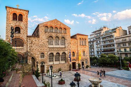 thessaloniki: Saint Demetrius church in Thessaloniki, Greece in a summer day