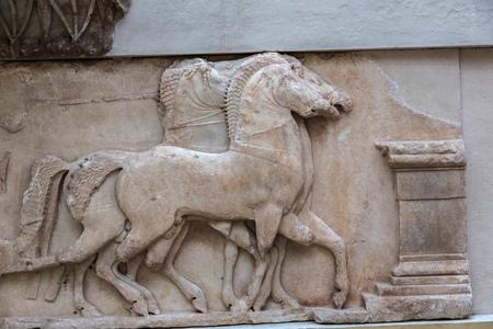 classical greece: Ancient greek ornament in Delphi museum in Greece
