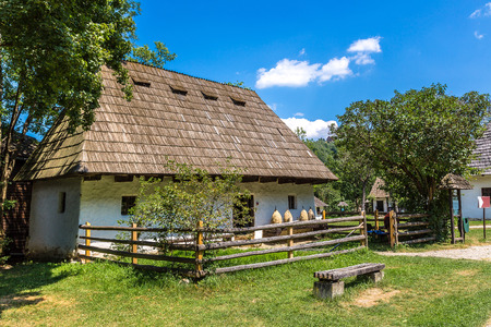 astra: Astra village museum in a summer day in Transylvania, Romania