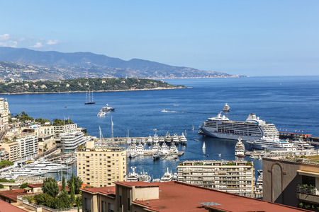 monte carlo: Panoramic view of Monte Carlo in a summer day, Monaco
