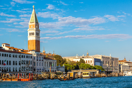 st mark's square: Campanile di San Marco  in a summer day in Venice, Italy Stock Photo
