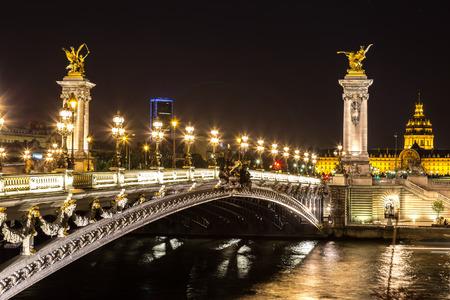 iii: Bridge of the Alexandre III in a beautiful summer day in Paris, France