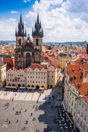 old town square: Old Town Square is a historic square  of Prague in the Czech Republic. Stock Photo