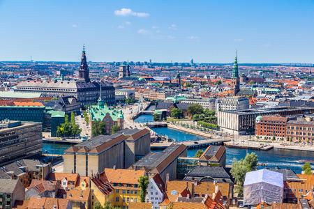 Kopenhagen, Denemarken, Scandinavië. Mooie zomerdag
