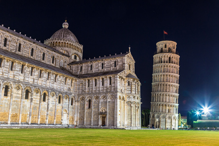 italy: Pisa cathedral in a summer evening in Italy