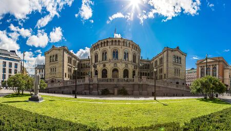 elected: Oslo parliament is elected every four years in Norway in Oslo in a summer day