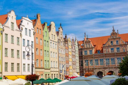 notable: Long Street in Gdansk, Poland. Street is one of the most notable tourist attractions of the city. Stock Photo