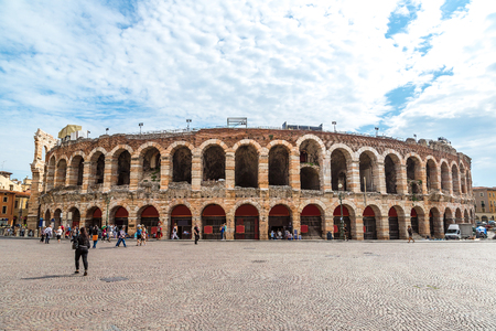 arena: Verona Arena in a beautiful summer day in Verona, Italy (Arena di Verona)
