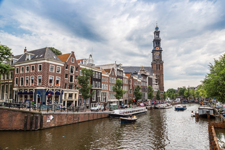 westerkerk: Westerkerk in Amsterdam. Amsterdam is a capital and most populous city of Netherlands in a summer day Stock Photo