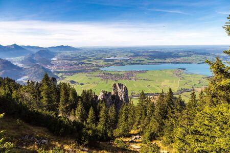 neuschwanstein: Green fields  next to Neuschwanstein castle in Germany