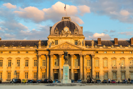 The Military School in Paris in a beautiful sunset Editorial
