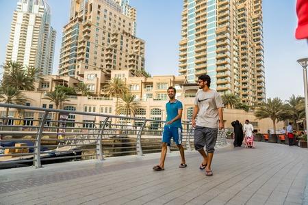 persian gulf: DUBAI, UAE - NOVEMBER 13: Modern buildings in Dubai Marina, Dubai, UAE. In the city of artificial channel length of 3 kilometers along the Persian Gulf, taken on 13 November 2012 in Dubai.