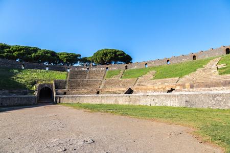 past civilizations: Stadium in Pompeii city  destroyed  in 79BC by the eruption of Mount Vesuvius
