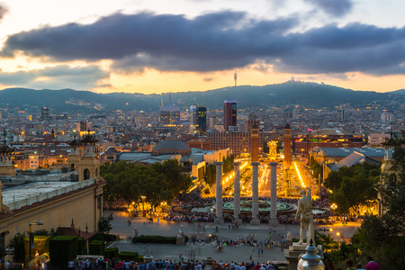barcelona: View of the center Barcelona. Spain in a summer