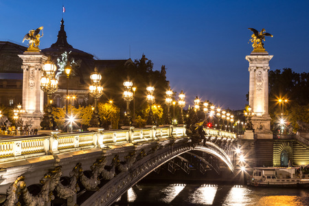 alexandre: Bridge of the Alexandre III in a beautiful summer day in Paris, France
