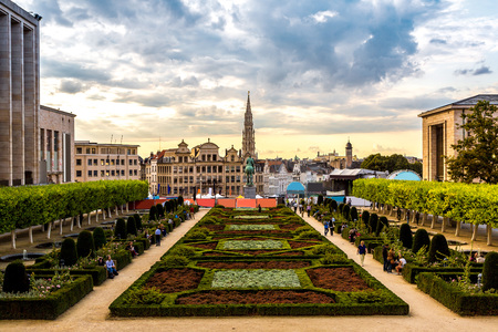 history building: Cityscape of Brussels in a beautiful summer day
