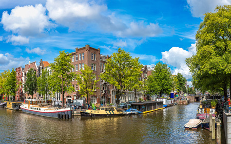 amsterdam: Amsterdam is the capital and most populous city of the Netherlands Stock Photo