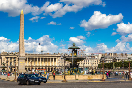 concorde: PARIS, FRANCE - JULY 14 2014: The Luxor Obelisk at the center of the Place de la Concorde in Paris in a summer day, July 14, 2014 Editorial