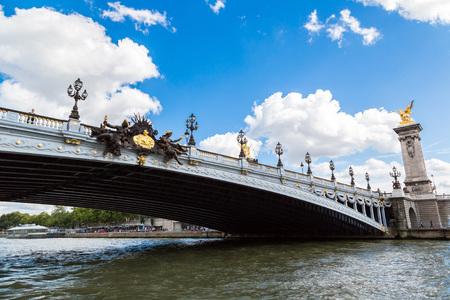 alexandre: Bridge of Alexandre III in Paris in a beautiful summer day