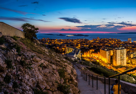 monte cristo: View of Chateau dIf in Marseille in France