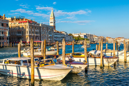 grande: Canal Grande in a summer day in Venice, Italy