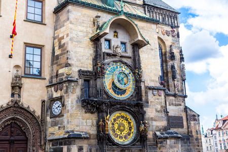 Astronomical Clock. Prague. Czech Republic Standard-Bild