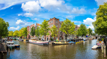 populous: Amsterdam is the capital and most populous city of the Netherlands Stock Photo