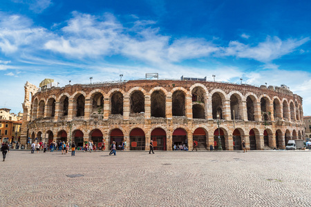 Verona Arena in a beautiful summer day in Verona, Italy