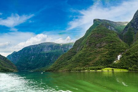 sognefjord: View to Sognefjord in Norway. Country landscape