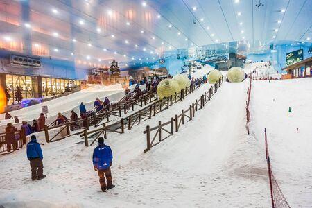 mall of the emirates: DUBAI, UAE - APRIL 16: Ski Dubai, an indoor ski resort in Mall of the Emirates, on april 16, 2015 Editorial