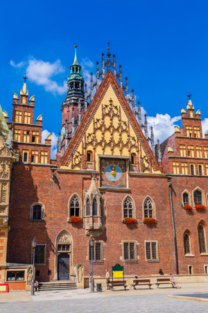 rynek: Old city hall in Wroclaw, Poland in a summer day