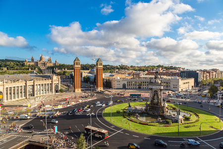 View of the center Barcelona. Spain in a summer day 写真素材