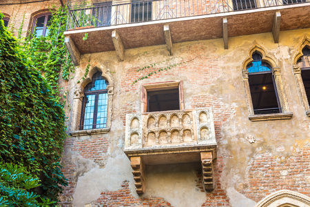juliet: Romeo and Juliet  balcony  in Verona, Italy