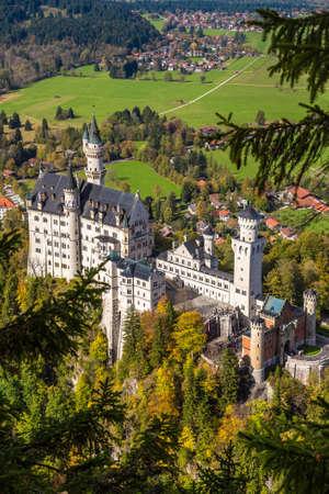 neuschwanstein: Neuschwanstein castle in a summer day in Germany