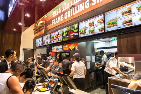 mall of the emirates: DUBAI, UAE - DECEMBER 5: Food court in Dubai Mall, UAE. December 5, 2015 in Dubai, United Arab Emirates Editorial